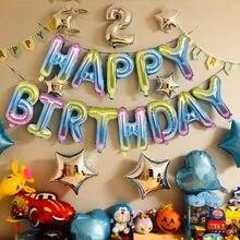 Ballons avec lettres de joyeux anniversaire, 16 pouces, en aluminium, décoration pour fête d'anniversaire, ballons à Air Alphabet