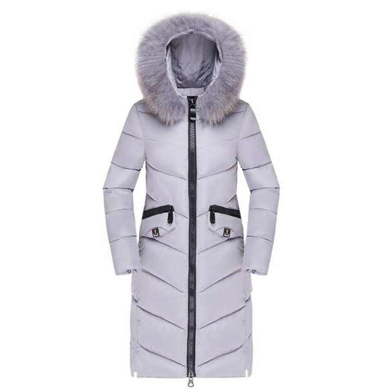 Women Winter Long Hooded Cotton Coat Casual Parkas Faux Fur Collar Basic Jacket Outerwear Female Wadded Thick Cotton Coat PW1019 2017 winter women long hooded coat faux fur collar jacket casual parkas padded outerwear female wadded thick cotton coats pw1023