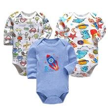 3piece/lot Newborn Bodysuit Baby Clothes Cotton Body Long Sleeve Underwear Infant Boys Girls Clothing Babys Sets