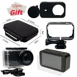 For Mijia Accessories Waterproof Housing +Frame Shell +Skin Case +Lens Cap + Protector Film + Storage bag Xiaomi Mijia 4K Camera