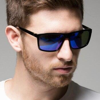 Gafas de sol de diseño clásico para hombre, lentes de sol de marca de lujo, para pescar, conducir, cuadradas, 2019 1