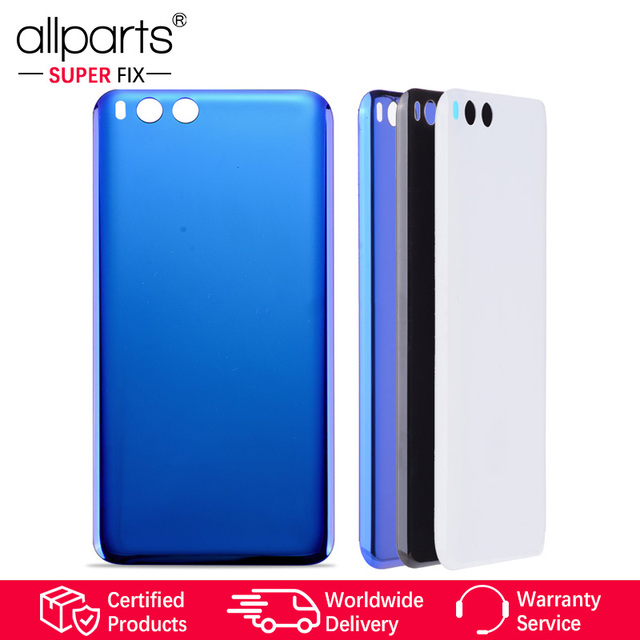 best website 6f06f 905b8 US $12.39 |White Black Blue Original Rear Back Housing For XIAOMI Mi6 Back  Cover Battery Door For MI Mi6 Replacement Parts-in Mobile Phone Housings ...