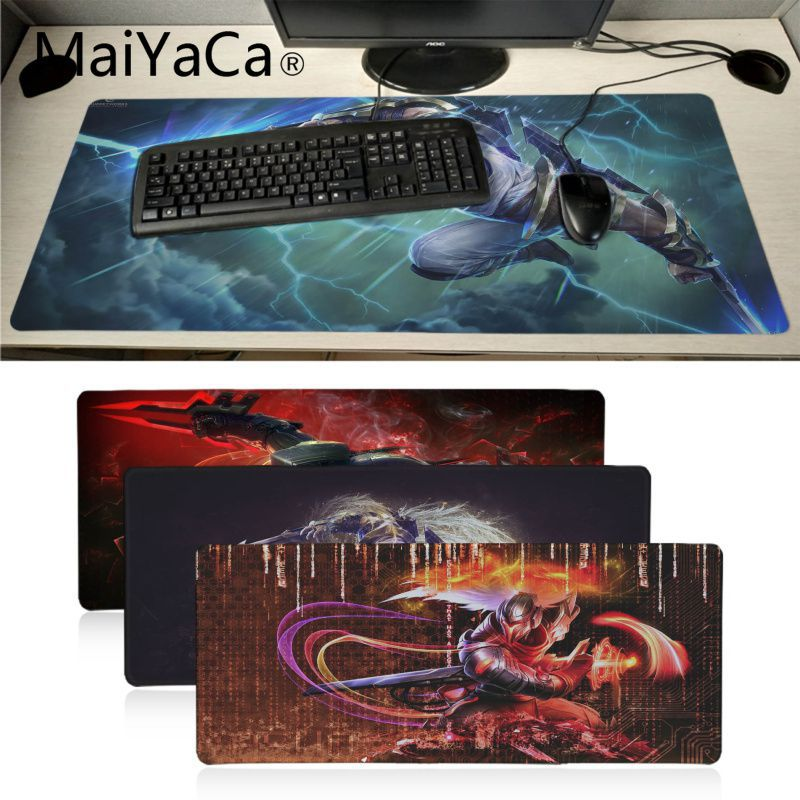 Maiyaca League Of Legends Zed Anti-Slip Durable Rubber Gaming Mouse Pad Gamer Game Mouse Pad Anime Mousepad Mat Speed Version