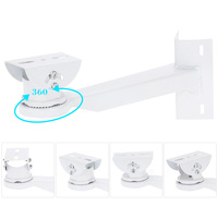 Video Security Surveillance Camera Stand Adjustable 360 Degrees Pole Mounting CCTV Bracket Stand Holder For Security