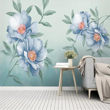 Custom wallpaper modern minimalist small fresh American pastoral flowers Nordic decoration - high-grade waterproof material
