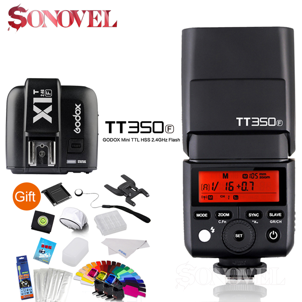 где купить Godox Mini Speedlite TTL TT350F Camera flash High Speed 1/8000s GN36 2.4G wireless X System+Transmitter X1T-F For Fuji дешево