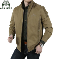 Afs Jeep Brand Winter Jacket Men Army Military Jackets Mandarin Collar Pure Cotton Mens Jackets And