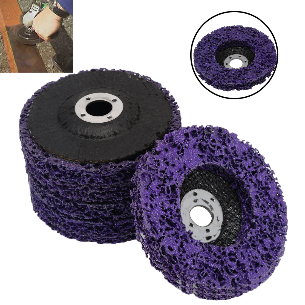 5pcs Durable Poly Strip Disc Wheel 100*16mm Wood Metal Paint Rust Removal Clean Abrasive Tools For Angle Grinder Mayitr