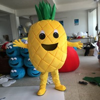Hot Sale Pineapple Mascot Costume Fruit Cosplay Costume Mascot Cartoon Character Costume free shipping