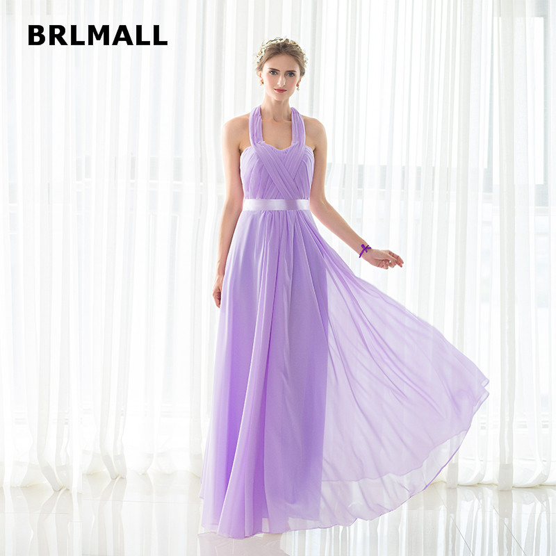 2019 Candy Color Bridesmaid Dresses Custom Made Halter
