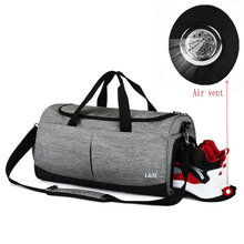 New Gym Bags Sport Men Waterproof Travel Duffel Bag For Women Fitness Large With Shoe Compartment Shoulder Handbag