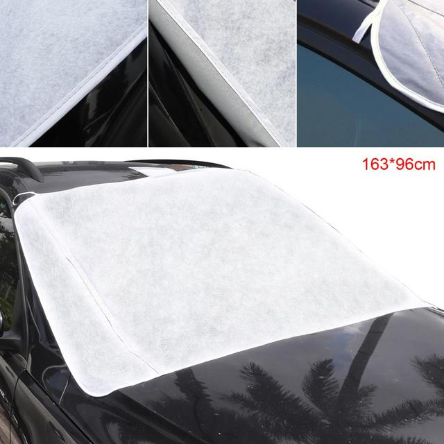 5a6a9416 Durable Thick Front Windshield Peva Cotton Ice / Snow / Frost Protector Car  Clothing Cover with Two Bandage + Five Magnets