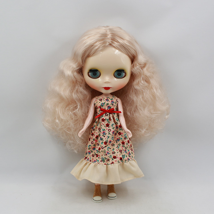 11.5 fashion dolls in light gold long hair mini dolls for girls flat cheasted dolls