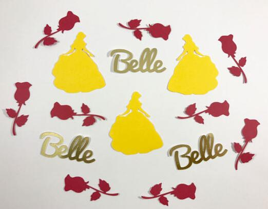 Personalized Beauty And The Beast  Wedding Birthday Confettis Table Scatter Baby Bridal Shower Bachelorette Party Decorations