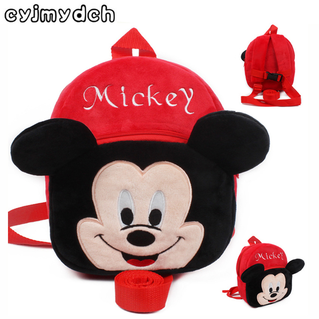 Baby mickey Harnesses Leashes minnie Plush Backpack Walking Anti-lost Bag Safety Activity Gear Children Backpack School bags
