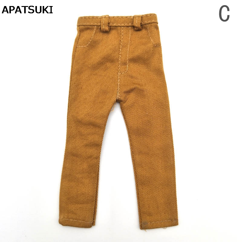 Handmade Casual Wear Brown Trousers For Ken Doll Long Pants For Barbie's Boyfriend Prince Ken Male Doll Casual Clothes 1/6