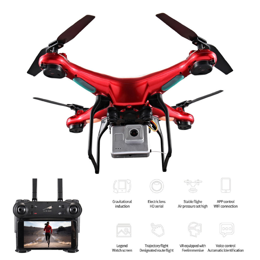 X52 0.3MP RC Drones with Camera HD Selfie Dron 6-Axis Remote Control Helicopter Quadcopter Profissional GPS Drone rc drone hd camera 2 4g 6 axis gyro remote control s9 s8 aircraft helicopter drones white black dron vs xs809w