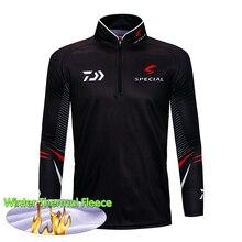 Brand Fishing Shirt Thermal Fleece Outdoor Sportswear Hiking Sun Protection Jersey Wear Sports Apparel