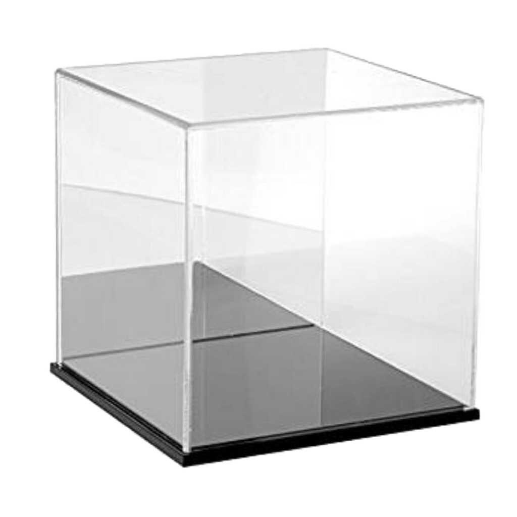 Brinquedo Cubo de acrílico Caixa de Exibição Show Case Tray Box Display Case Caixa de Proteção À Prova de Poeira 18x18x18cm Para crianças Blocos Brinquedos de Exibição