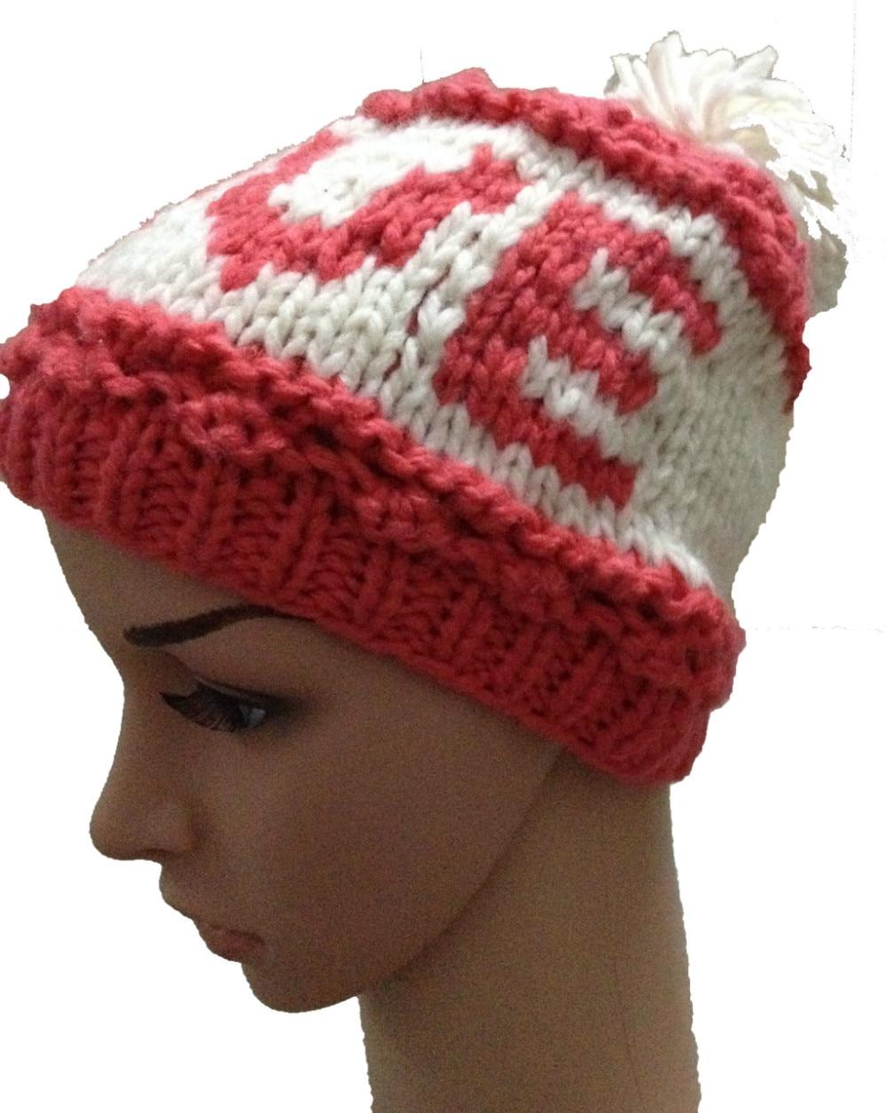 ⊱BomHCS hiver chaud bonnet de laine femmes loisirs lettre D AMOUR ... 79bd0396c18