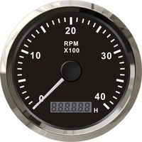 1pc brand new 85mm waterproof tachometers auto gauges 0 4000rpm with backlight 12/24v fit for auto black