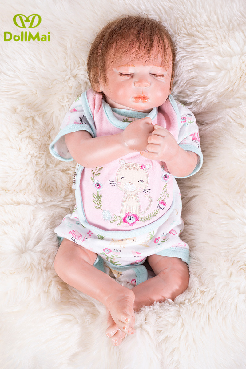 50cm handmade Bebes reborn sleeping dolls lifelike gentle menina super fashion Child Birthday Christmas Gift girls  Brinquedos50cm handmade Bebes reborn sleeping dolls lifelike gentle menina super fashion Child Birthday Christmas Gift girls  Brinquedos