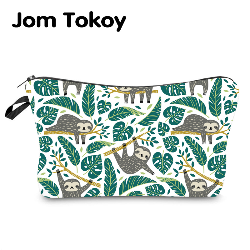 Jom Tokoy Water Resistant Makeup Bag Printing Sloth Cosmetic Bag Organizer Bag Women Multifunction Beauty Bag Hzb969