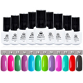 Born Pretty Soak Off UV Gel Nail Art Gel Polish 12 Candy Colors Nail Gel #13-24 1 Bottle 5ml