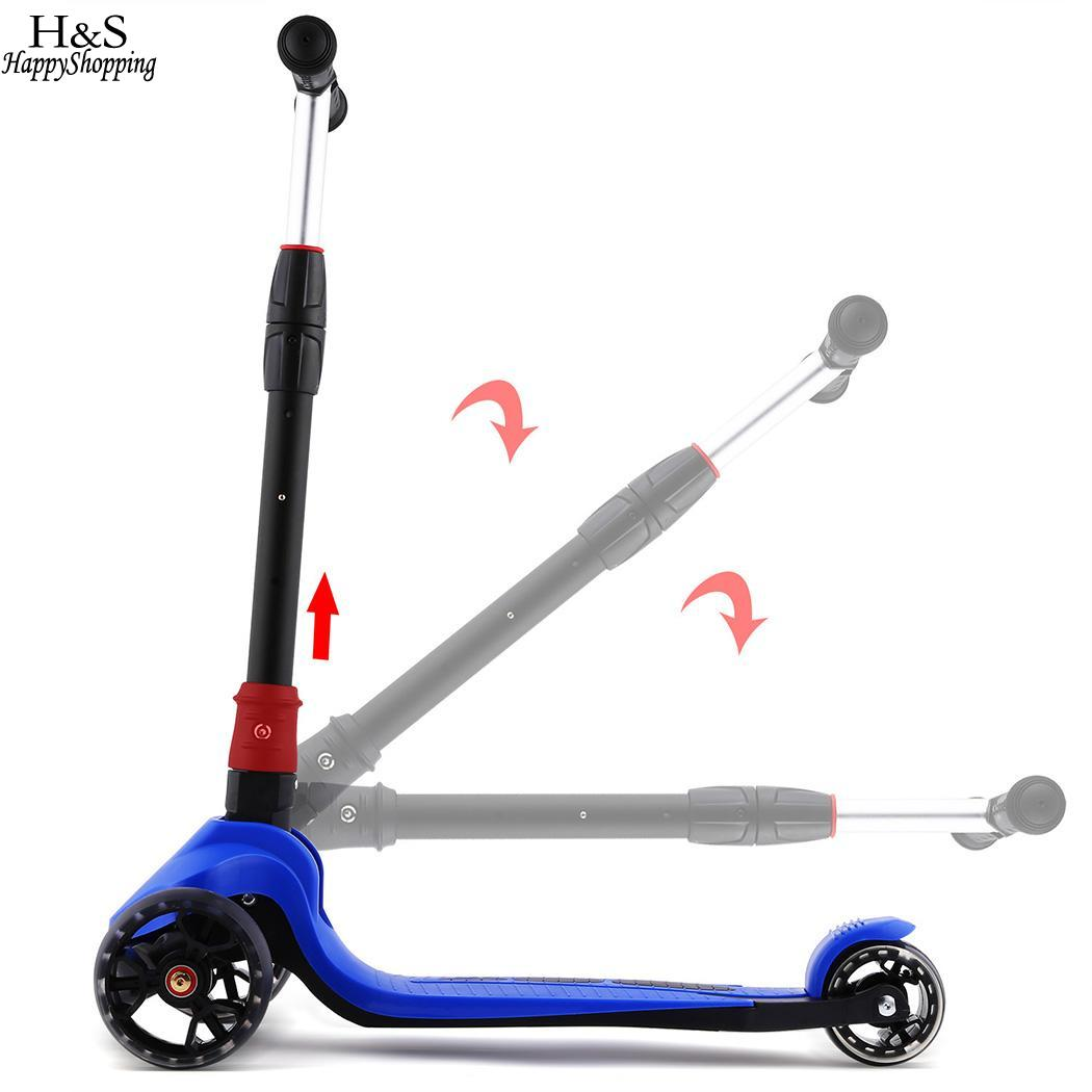 4 11cm T Brake 3 alloy Scooters Aluminum Wheels Scooter 3inch 1inch Kids Adjustable Children 50kg Rear Kick 8cm PU 3