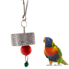 Parrot toys Harness Bird Squirel Chew Bite Scratcher Bell Toy Teeth Grinding Clean Tool Cockatiel Budgie HOME jouet perroquet(China)