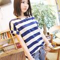 Novo Mulheres QUENTES de Verão Chiffon Sheer Tops Casual Batwing Manga Curta Soltas T Shirt
