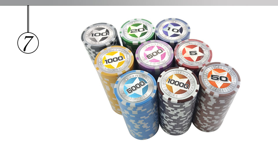 Easytoday 25Pcsset Plastic Poker Chips Set Clay Baccarat High Texas Hold'em Standard Entertainment Games Chips  (7)