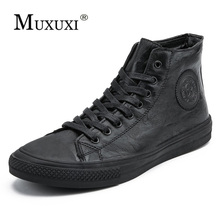 British Style Fashion Genuine Leather Men Waterproof Boots Casual Shoes Ankle For  winter boots