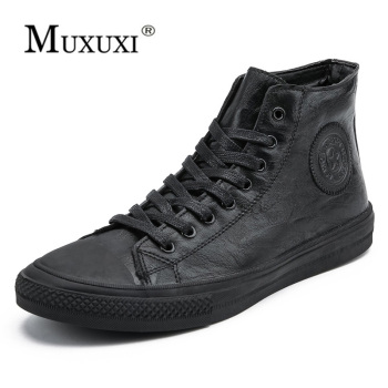 British Style Fashion Genuine Leather Men Waterproof Boots Men Casual Shoes Fashion Ankle Boots For Men  winter boots