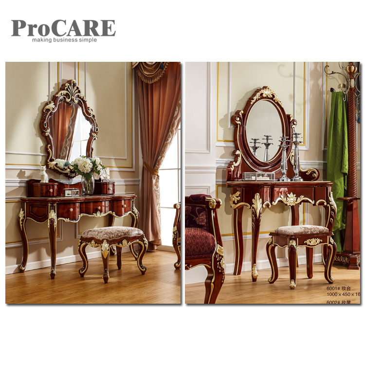 Factory Price Customized White Design Dressing Table With Stool - 6003