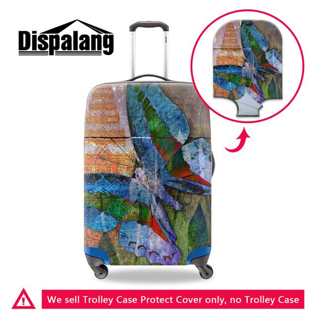 Dispalang 3d lifelike borboleta impressão de espessura elástica bagagem tampas de proteção new dirtproof tampa mala de estiramento 18-30 polegada