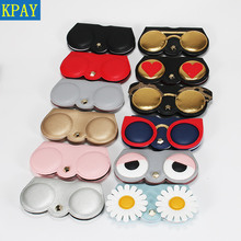 KPAY Unique PU Leather Glasses Bag Cartoon Multi-function Ey