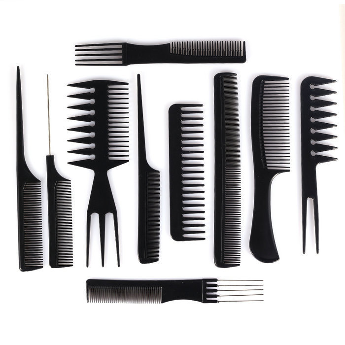 hair styling combs 10pcs professional salon hair styling tools hairdresser 7677 | 10Pcs Professional Salon Hair Styling Tools Hairdresser Barber Combs Set Plastic Barbers Brush Anti Static Hair