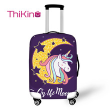 Thikin Unicorn Travel Luggage Cover for Girls Cartoon School Trunk Suitcase Protective Bag Protector Jacket