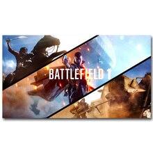 Battlefield bf 1 4 Книги по искусству шелк Ткань плакат печать 13 х 24 20×36 дюймов Горячая игра солдат фотографии для детской комнаты настенный Декор подарок 39