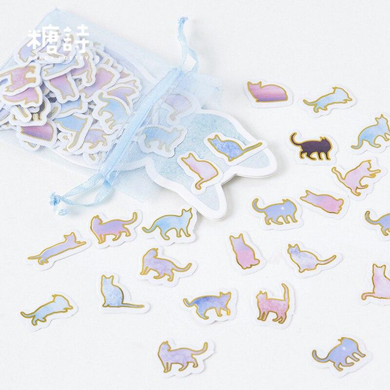 100 Pcs/lot Cute Animal Cat Mini Paper Sticker DIY Diary Decoration Sticker For Planner Album Scrapbooking Kawaii Stationery