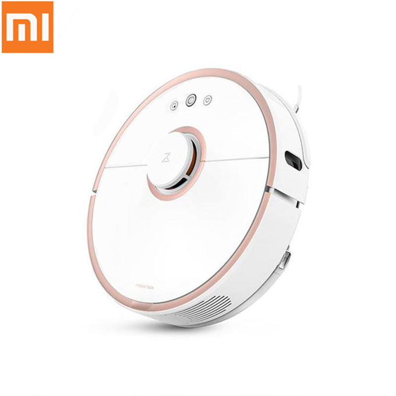 Original Xiaomi Vacuum Cleaner 1st/2nd Generation Mijia Smart Robot Cleaner App Wifi Remote Control for Home Cleaning Machine jisiwei 2017 s smart robotic vacuum cleaner for home mobile app remote control tpu avoidance sensor hd camera robot mopping tool
