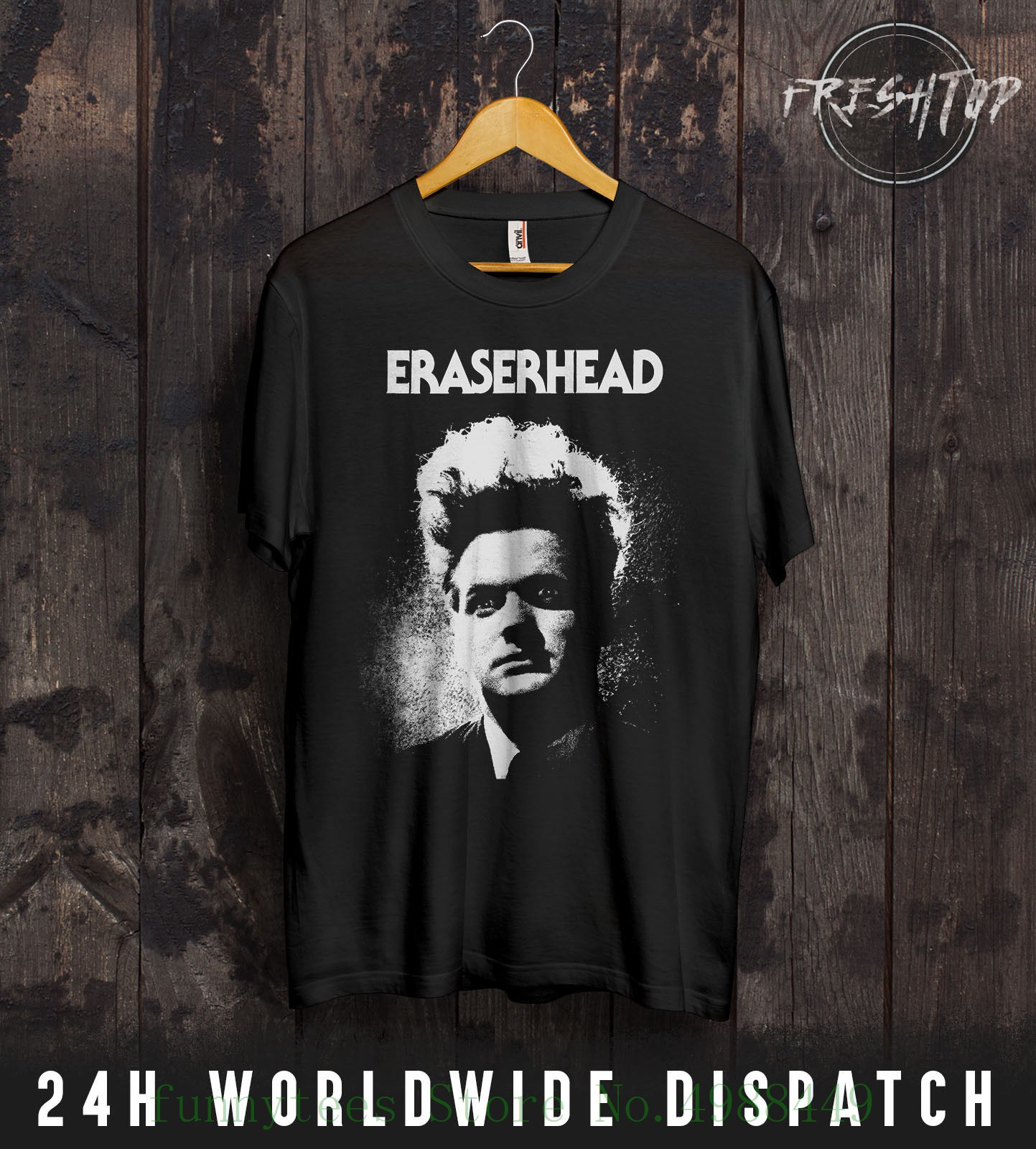 Eraserhead T Shirt David Lynch Cult Horror Movie Twin Peaks Gift S - Xxxl Youth's Short Sleeve Tshirt Cotton image