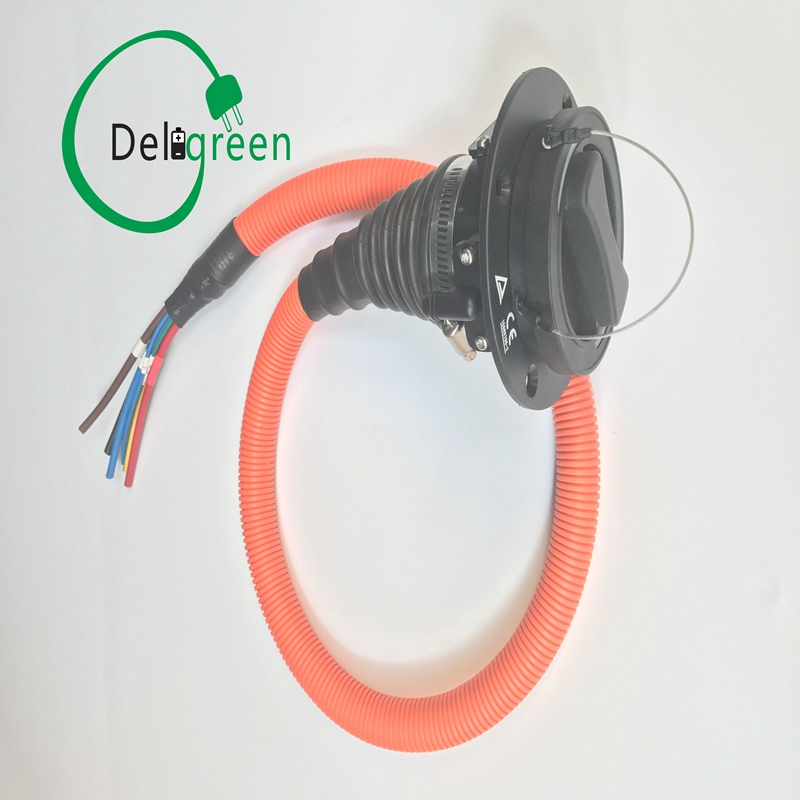 32A IEC62196-2 European standard inlet/socket 1m UL cable Three phase IEC EV side Type 2 Level 2 schaefer