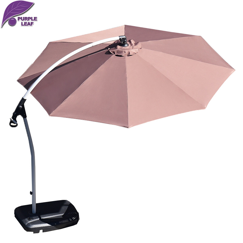 PurpleLeaf patio outdoor parasol  9ft/10ft Circular External hanging type UV protection umbrella