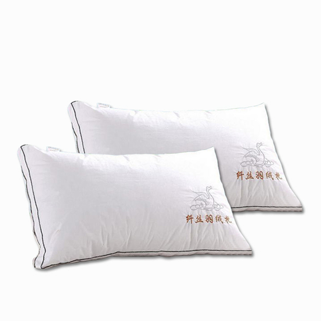Svetanya Five star hotel bedding Pillow 100% cotton neck Pillows 3D 100% feather silk 48*74 Wholesale and retail