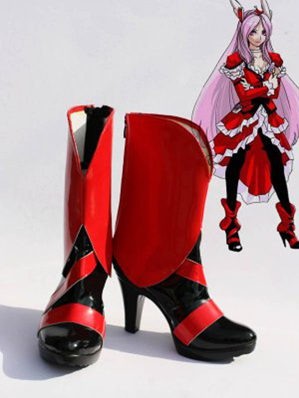 Pretty Cure Cure Passion Cosplay Boots Shoes Anime Party Cosplay Boots Custom Made for Adult Women High Heel Shoes