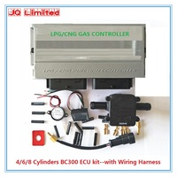 4/6/8 cylinder BC300 ECU kits for LPG CNG conversion kit for car Latest Version 11.3 stable and durable GPL GNC kits with wire