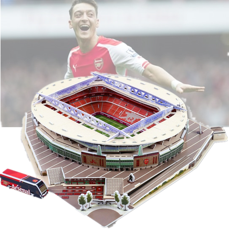 Classic Jigsaw Puzzle Architecture United Kingdom Emirates Royal Arsenal Football Stadiums Toys Scale Models Sets Building Paper