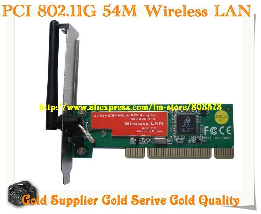 Evertek wholesale computer parts ieee wireless-g lan pci card.